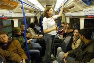 Беременная в транспорте